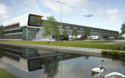 Eerste paal geslagen 38.000 m² logistieke bedrijfsruimte op Schiphol, nu in verhuur bij INDUSTRIAL real estate partners