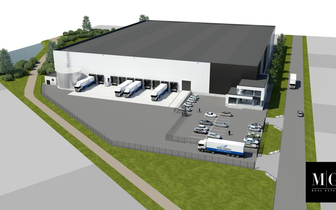 MG Real Estate ontwikkelt 11.225 m² farma warehouse voor Yusen Logistics  in Roosendaal.