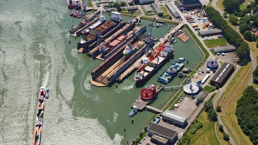Hebo Maritiem verwerft scheepswerf van Damen Shipyards in Rotterdam Pernis